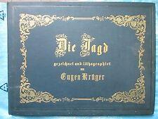 KRUGER : RECUEIL LITHOGRAPHIQUE SUR LA CHASSE, 1861/1862. 21 grandes lithos.