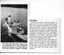1950 Magazine Photo Starcraft Sportster Kit Boats Magnesium Alloy