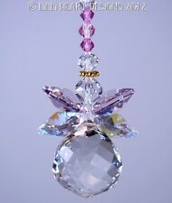 m/w Swarovski Crystal Chubby Lil Pink Wings Angel SunCatcher Lilli Heart Designs