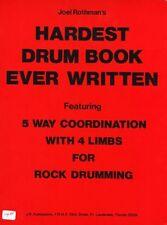 Joel ROTHMAN il più duro TAMBURO libro mai di imparare a giocare batterista LIBRO MUSICA