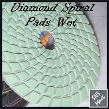 "50 Pcs: 4"" Wet Diamond Polishing Pads Set for Granite Concrete Floor Wet Grinder"