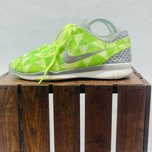 Nike Free TR Fit 5 Training Sneaker Womens 8.5 Lime Green Preowned 704965-700