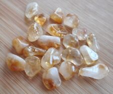 Citrine Tumblestones 20 Citrine 10mm to 12mm Small Crystals Crafts Jewellery