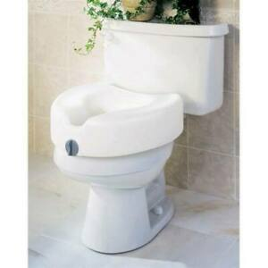 Medline Raised Toilet Seat, 5in, Locking Padding, G30260H