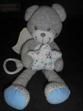 Doudou Musical Ours Gris Bleu Etoile Ailes Blanches Etoiles Simba Toys Nicotoy