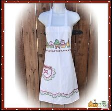 New listing Christmas Apron Hand Embroidered Kit Completed Nos