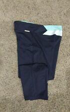 Victoria's Secret VSX Sleek Fit Athletic Pants Black Blue Crop Style Great Shape