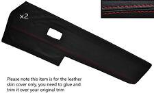 Rojo Stitch 2x Frontal Puerta Tarjeta Trim Skin cubre encaja Vw Type 3 T3 temprana