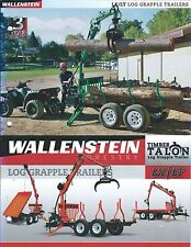 Equipment Brochure Wallenstein Lx Lt Timber Talon Log Grapple Trailer (E3307)