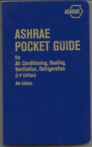 ASHRAE Pocket Guide for HVAC & Refrigeration 8th Edition in I-P, 2013 paperback