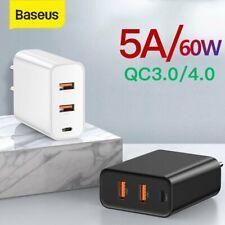 Baseus QC 4.0 USB Ladegerät 60W Schnell Netzteil für iPhone 11 Pro Max Samsung