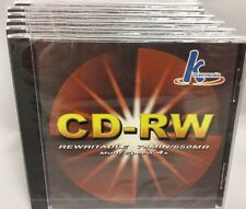 Lot of 6 Khypermedia CD-RW 74 Minutes / 650MB Multi Speed 4x New in Package (NIP