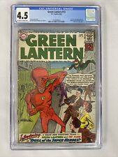 Green Lantern 🔥#13 CGC 4.5 (OW2WP) 1st Silver Age Flash X-Over Reveal ID's! DC!