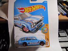 '71 DATSUN BLUEBIRD 510 WAGON #277✰lgt Blue✰Surf Patrol✰2017 HOT Wheels case N