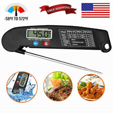 Instant Read Digital Meat Thermometer Probe Grill Smoked Kitchen Food Cooking US