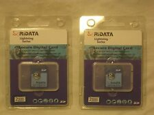 2 x RiData secure digital cards card lot SD memory high speed data transfer