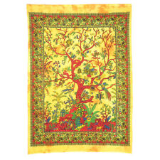 Indian Hippie Poster Yellow Tree Of Life Wall Poster Hippie Wall Decor Tapestry