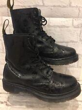 Femme en Cuir Noir Dr Marten boots Uk6 EU39 US8 CASSIDY SKULL boots Goth