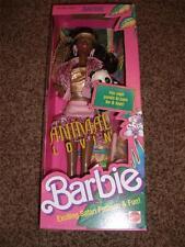 Vintage Animal Lovin Barbie Black Doll NRFB Panda 4824 Mattel Safari 1989 MInt