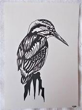 A4 Bolígrafo Marcador de arte dibujo pájaro Martín Pescador De Animales C Cartel