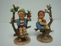PAIR OF HUMMEL APPLE TREE BOY & GIRL ~ OLDER TMK 2 GERMANY MARK