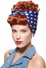 Morris Costume Women's Retro Bandana Historic Rivetor Wig Red One Size. MR177700