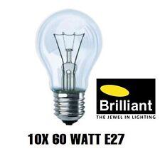 10x Brilliant Glühbirne Glühlampe 60W klar 60 Watt E27 230V - Made in Germany