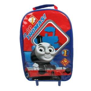 Thomas Tank Engine Boy Girl School Travel Trolley Roller Wheeled Bag Brand New