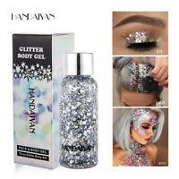 Face Body Glitter Paste Cream Highlighter Gel Hair Paint Cosmetic Makeup Tool Bu