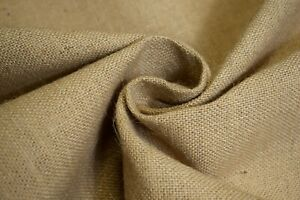 """Burlap Jute Fabric Natural Beige 60"""" Wide 11 Oz. Premium Washed Upholstery BTY"""