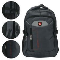 Waterproof Mens Laptop Backpack Rucksack Outdoor Travel Bag Boys School Bag