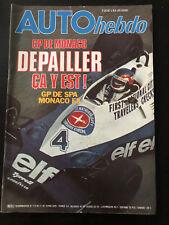Auto View No No 113 May 1978 F1 Gp Monaco Spa Hottinger Rally Criterium Alpine