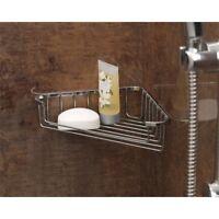 Chrome Plated Shower Corner Soap Tray - Supahome
