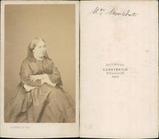 Constantin, Paris, Mme Mouchet CDV vintage albumen Tirage albuminé  6,5x10,5