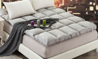D51 Gray Cotton Soft Home Foldable Bedding Double Size Bed Mattress 1.5X2M O