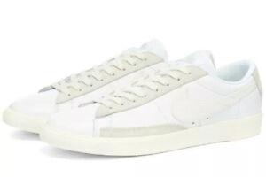 Nike Blazer Low Leather 'Retro White' Trainers Uk Size 7.5 EUR 42 CW7585 100 New