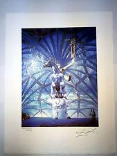 Salvador Dali Litografia 50 x 65 Bfk Rives Timbro a secco Firmata a Matita D252