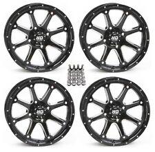 "STI HD4 ATV Wheels/Rims Black 12"" Honda Foreman Rancher SRA"