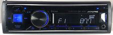 Alpine Cde-143Bt Bluetooth Cd/Aux/Usb/Mic. In Dash Car Receiver Fully Tested!