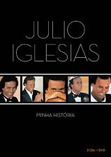 BOX 3CD+DVD JULIO IGLESIAS - MINHA HISTORIA [BRAZILIAN RARE EXCLUSIVE EDITION]