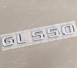 GL550 Letter Trunk Emblem Rear Badge Decal Sticker Mercedes Benz GL 550