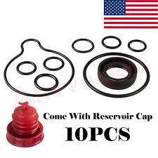 9PCS Power Steering Pump Seal Kit+Reservoir Cap fits Honda Accord Odyssey Pilot