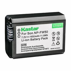 1x Kastar Battery for Sony NP-FW50 Alpha a6000 a6300 a6400 a6500 a6100 a7 a7 II