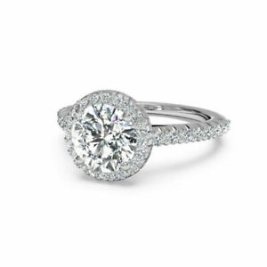 Round Cut 1.00 Ct Diamond Engagement Solitaire Ring 14K White Gold Size 5 6 8