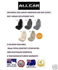Sheepskin Car Seatcover, 30mm Total Comfort,  Seat Air bag Safe.
