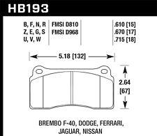 Disc Brake Pad Set-Base Rear,Front Hawk Perf HB193G.670