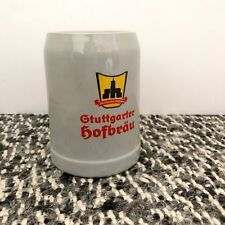 [STUTTGARTER HOFBRAU] German Ceramic Beer Stein Mug Logo 0.5 L Liter