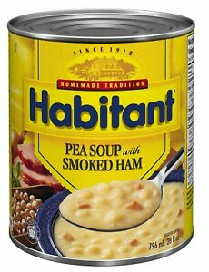 HABITANT PEA SOUP WITH SMOKED HAM 796ml-28oz 1 LARGE CAN