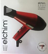 Elchim Classic 2001 Hair Dryer: Light 1875 Watt Quick Dry Professional  Red