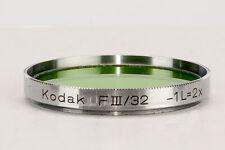 Kodak Farbfilter color filter FIII / 32mm -1 L=2x Grün green